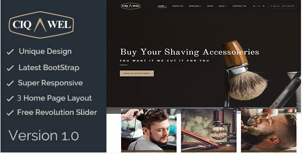 Cigawel - HTML Salon Template