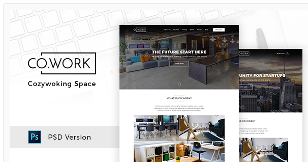 CoWork - Open Office & Creative Space PSD Template