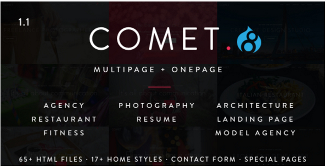 Comet - Creative Multi-Purpose Drupal 7 & 8 Theme