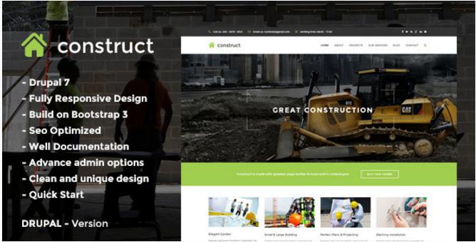 Construct - Construction & Business Drupal Theme