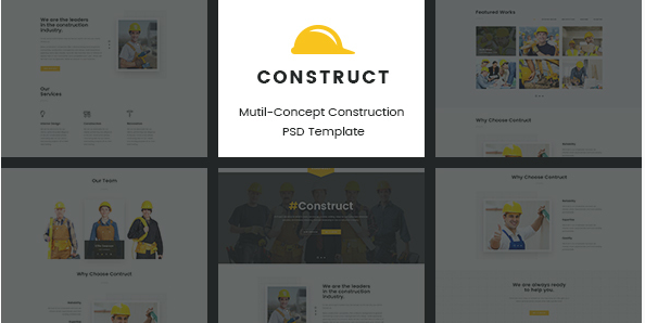Construct  Mutil-Concept Construction PSD Template