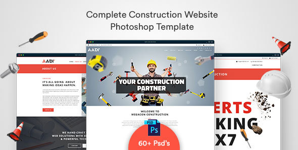 Best Construction PSD Templates