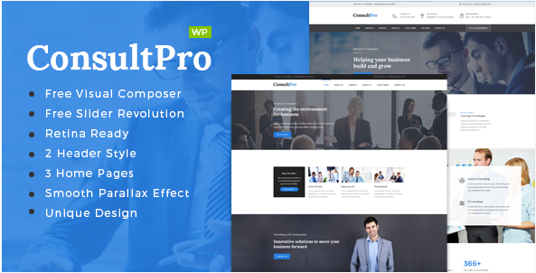 ConsultPro : Business, Finance and Consultancy WordPress Theme
