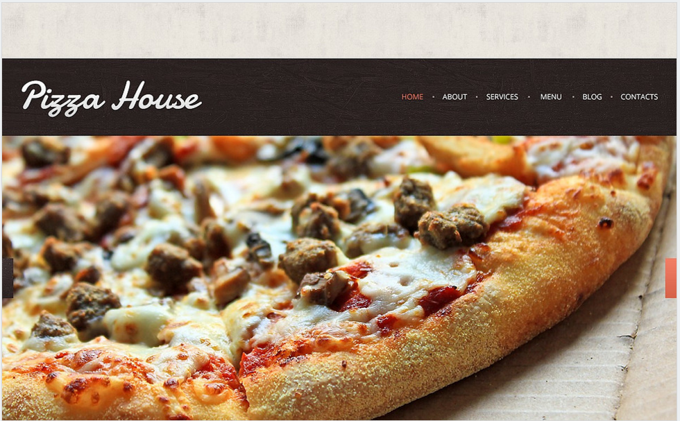 Contrast Pizza Drupal Template