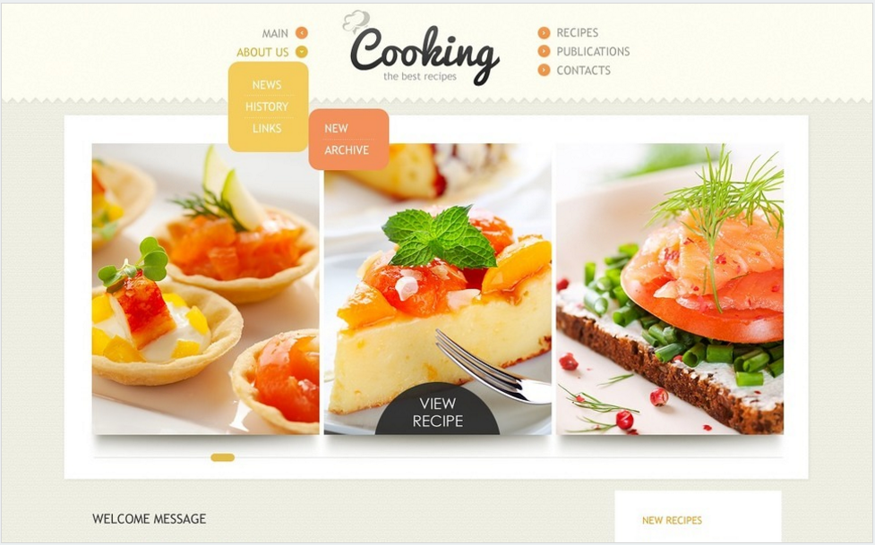 Cooking Drupal Template