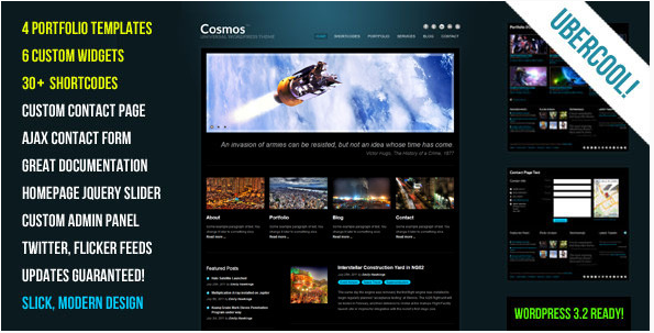 Cosmos - Creative WordPress Theme
