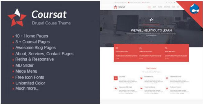 Coursat - Multipurpose Education Drupal Theme