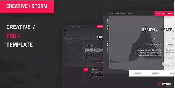 Creative  Storm - Creative Agency PSD Tempalte