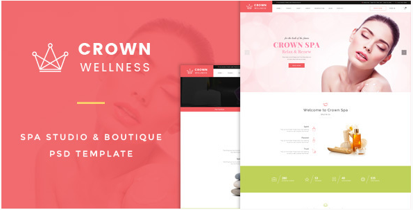 Crown Wellness  Spa PSD Template