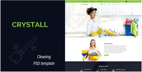 Crystall - Cleaning Service PSD Template
