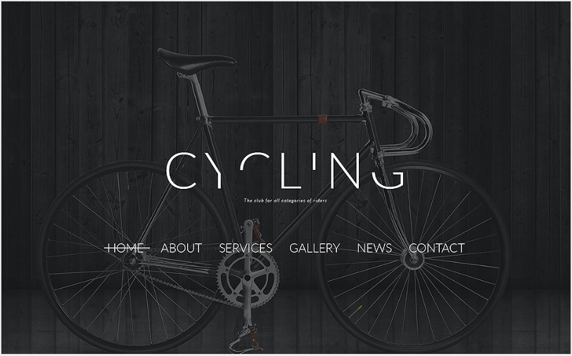 Cycling Club Joomla Template