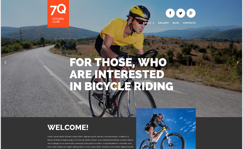 Cycling Joomla Template