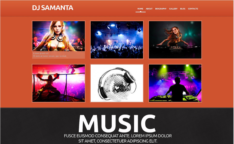 DJ Responsive WordPress Theme