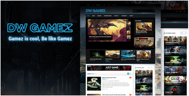 DW Gamez - Responsive WordPress Gaming Theme