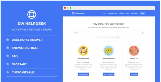 DW Helpdesk - Knowledge Base WordPress Theme