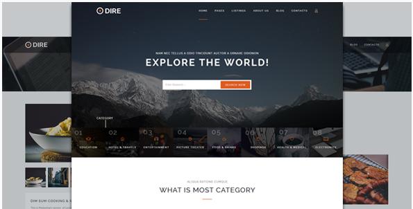 Dire - Multi Purpose Directory & Listings PSD Template