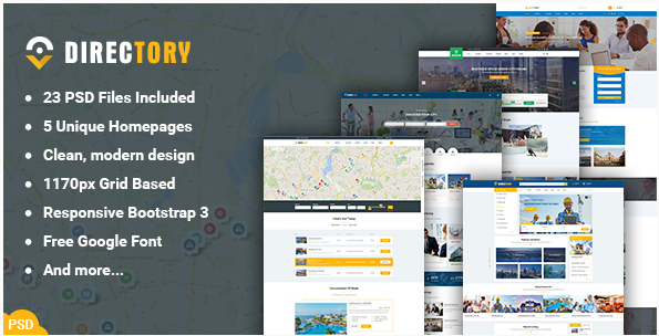 Directory - Directory and Listings PSD Template