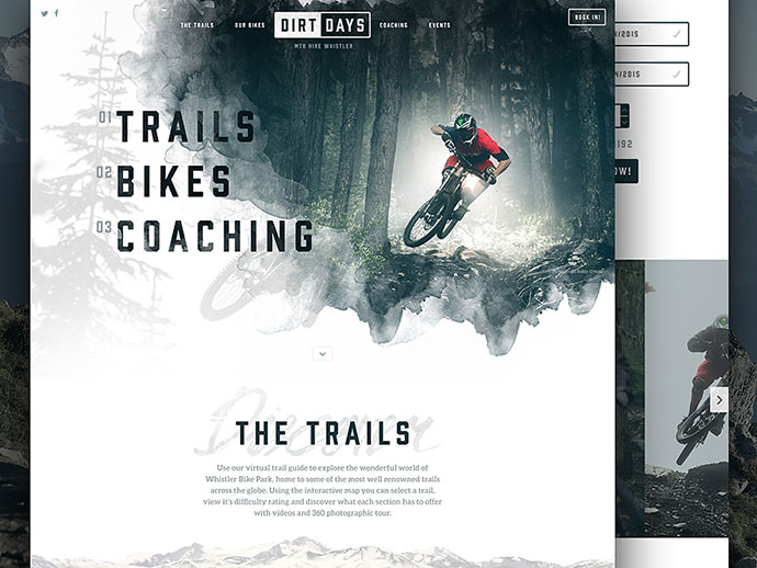 Dirtdays Website Concept by Nathan Riley