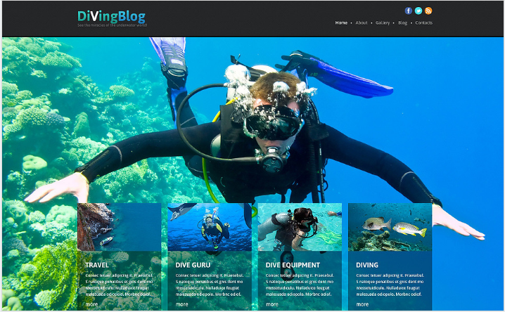 Diving Responsive Joomla Template