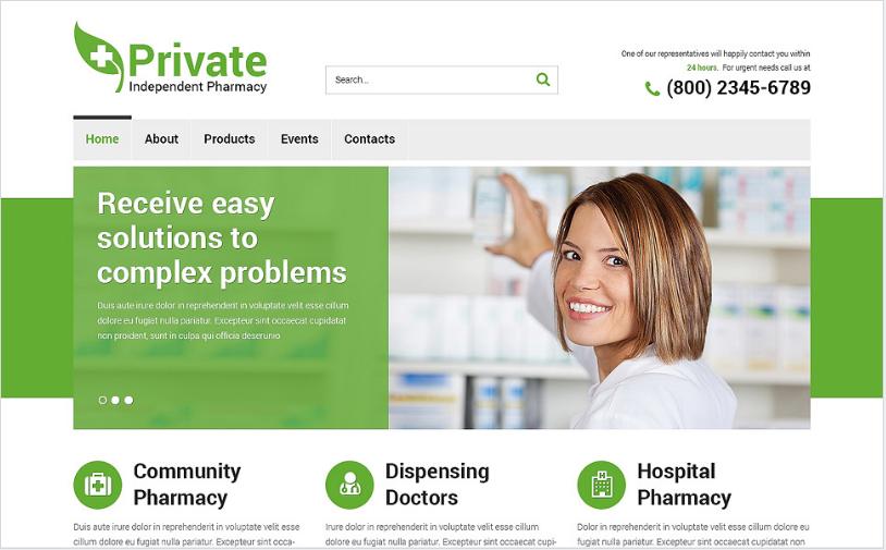 Drug Store Responsive Website Template