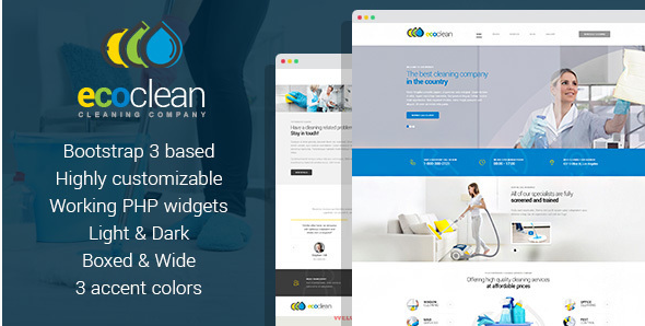 EcoClean - Cleaning company HTML Template
