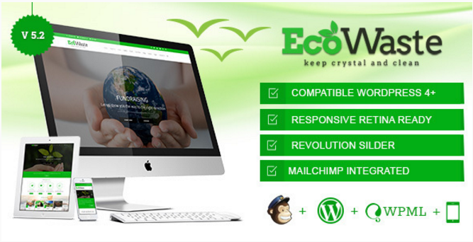 EcoWaste - Environmental WordPress Theme