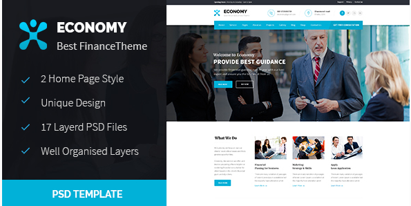 Economy - Finance & Business PSD Template