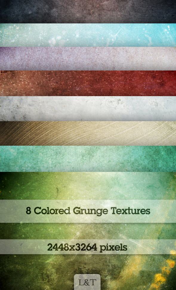 Eight-Colored-Grunge-Textures