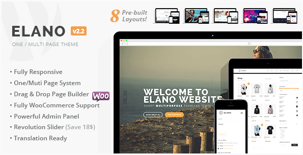 Elano - Multi-Purpose Business & Ecommerce WordPress Theme