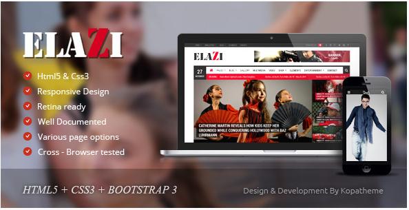 Elazi - Magazine HTML5 Template