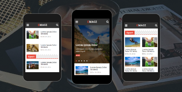 Emagz - News & Magazine Mobile Template
