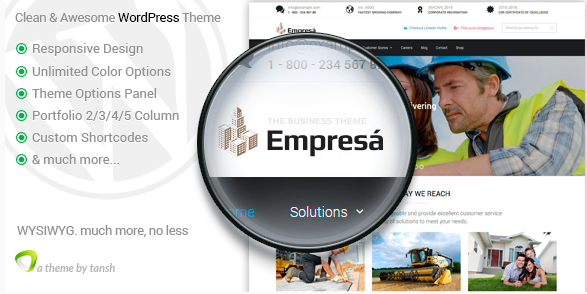 Empresa - Industry, Business, Finance WordPress Theme