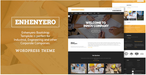 Enhenyero - Engineering/Industrial WordPress Theme