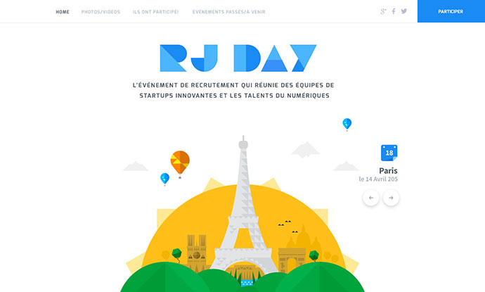 Event Website Design by Julien Renvoye