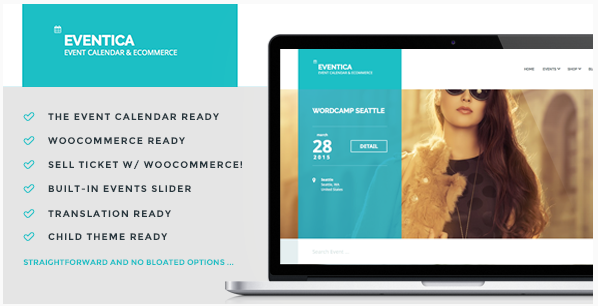 Eventica - Event Calendar & Ecommerce For WordPress
