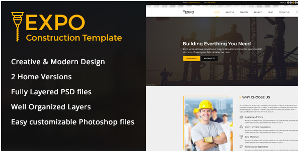 Expo Construction PSD Template