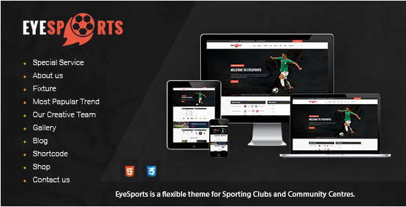 Eye Sports - Fixtures and Sports Html Template