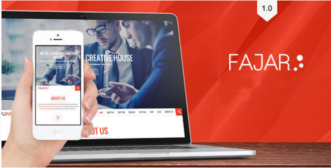 Fajar one page creative theme