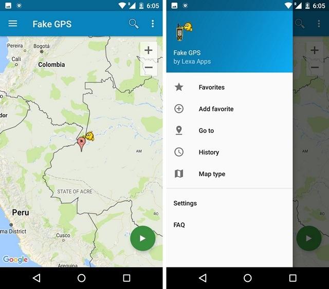 Fake-GPS-app