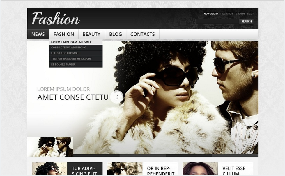 Fashion Drupal Template