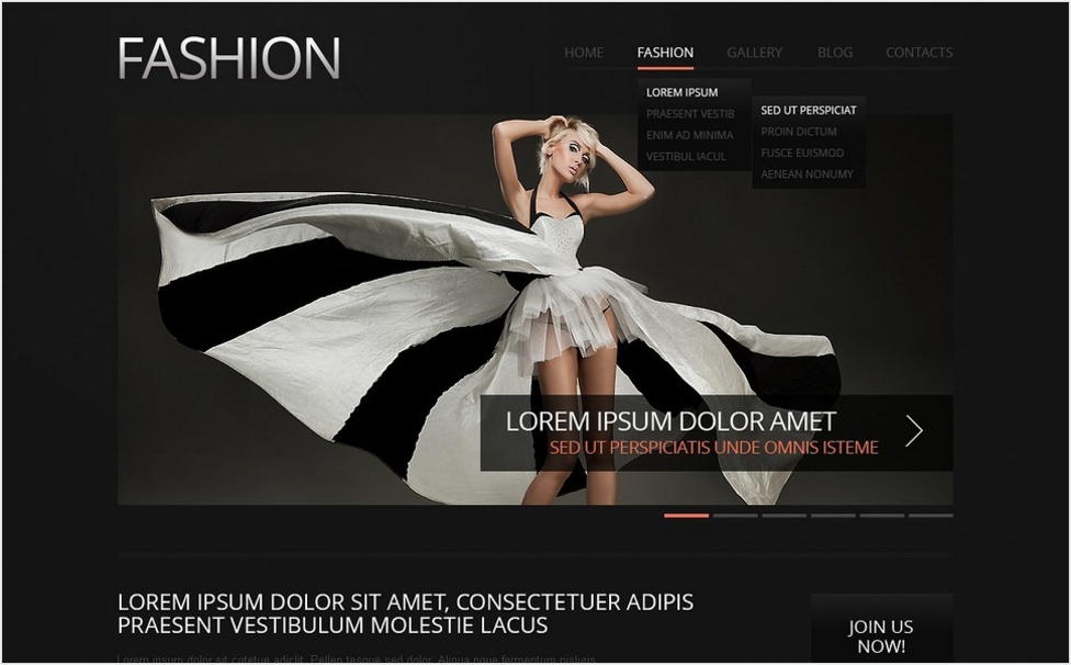 Fashion Responsive Drupal Template
