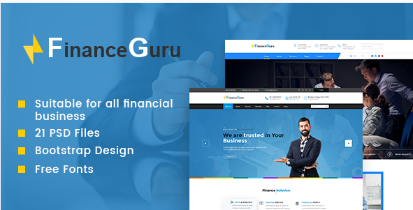 Finance Guru  Finance PSD Theme