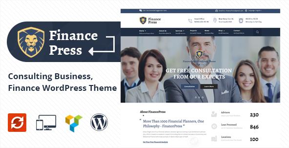 Finance Press - Consulting Business, Finance WordPress Theme