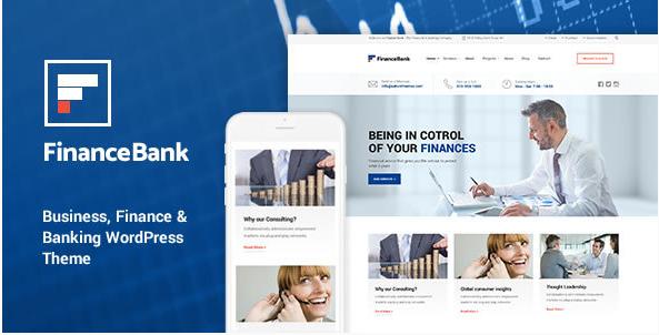 FinanceBank - Business, Finance & Banking WordPress Theme