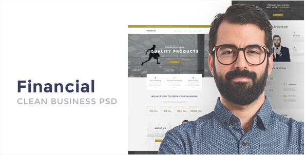 Financial - Clean Business PSD Templates