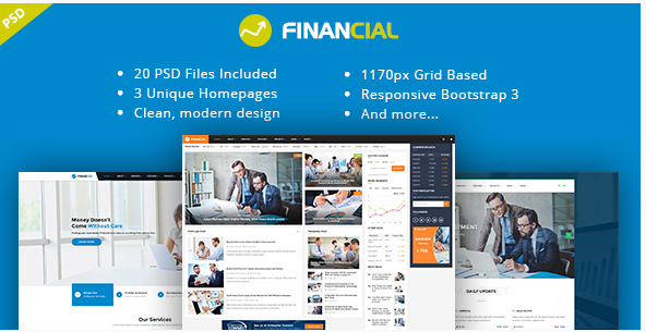 Financial III - Business & Financial PSD Template