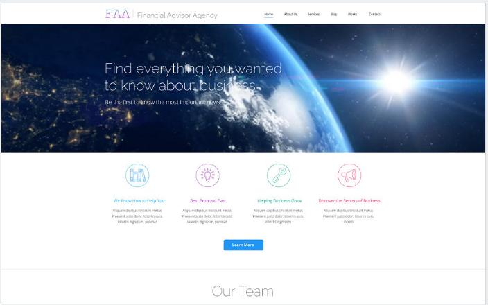 Financial Planning WordPress Theme