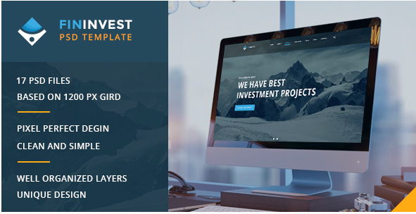 Fininvest — Multipurpose Business, Finance PSD Template