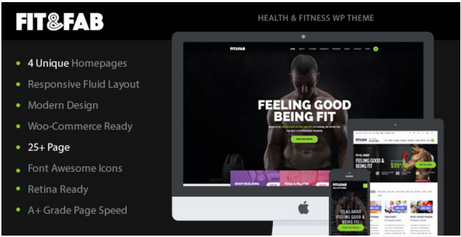 Fit & Fab - Aerobic, Gym and Fitness WordPress Theme