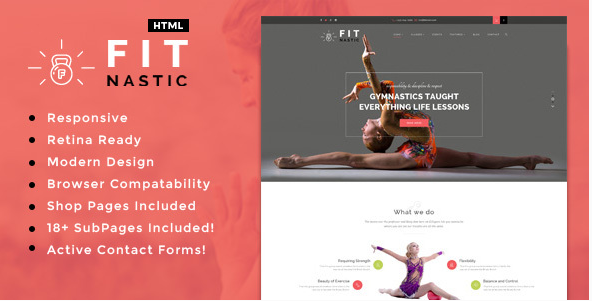 Fitnastic  Sports, Health, Gym & Fitness HTML Template